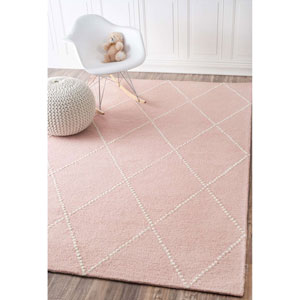 Elvia Baby Pink Rectangular: 4 Ft. x 6 Ft. Rug