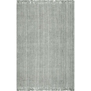 Chunky Loop Jute Gray Runner: 2 Ft. 6 In. x 12 Ft.