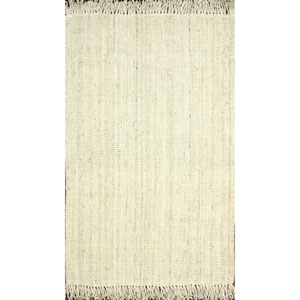 Chunky Loop Bleached Rectangular: 5 Ft x 7 Ft 6 In Rug