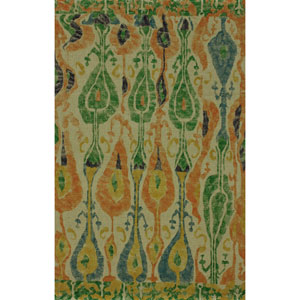 Ikat Multicolor Rectangular: 4 Ft x 6 Ft Rug