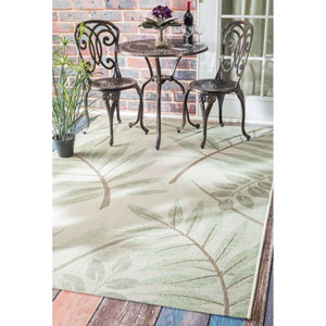 Outdoor Green Rectangular: 7 Ft. 10-Inch x 11 Ft. 2-Inch Area Rug