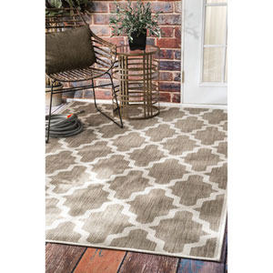 Outdoor Taupe Rectangular: 8 Ft. 6-Inch x 13 Ft. Area Rug