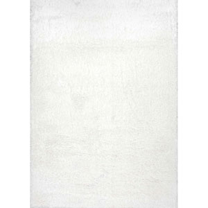Gynel Cloudy Snow White Rectangular: 3 Ft. 3 In. x 5 Ft. Rug