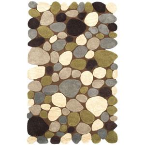 Balance Pebbles Brown Rectangular:  5 Ft. x 8 Ft. Rug