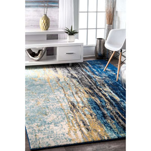Blue Rectangular: 9 Ft. 10 In. x 14 Ft. Rug