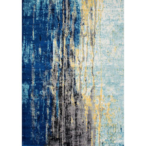 Blue Rectangular: 6 Ft. 7 In. x 9 Ft. Rug
