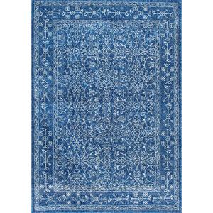 Dark Blue Runner: 2 Ft. 8 In. x 8 Ft. Rug