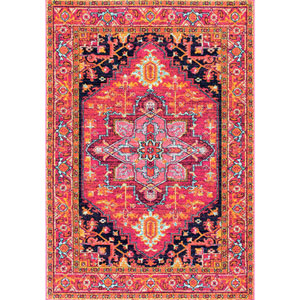 Pink Rectangular: 3 Ft. x 5 Ft. Rug
