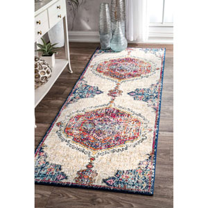 Vintage Medallion Maranda Multicolor Runner: 2 Ft. 8 In. x 8 Ft. Rug