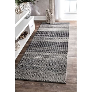 Nova Dark Grey Runner: 2 Ft. 8 In. x 8 Ft. Rug