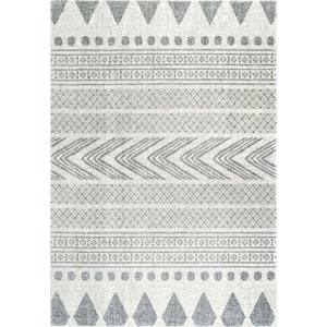 Shaina Tribal Grey Runner: 2 Ft. 8 In. x 8 Ft. Rug