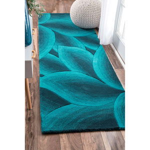 Teal Runner: 2 Ft. 6 In. x 8 Ft. Rug