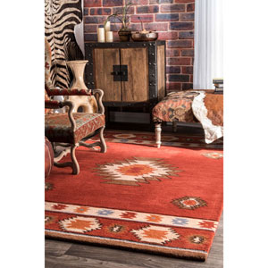 Shyla Wine Rectangular: 2 Ft. x 3 Ft. Rug