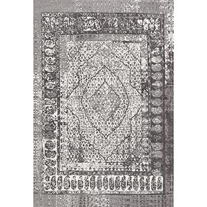 Grey Flatweave Vintage Laplante Rectangular: 5 Ft. x 8 Ft.