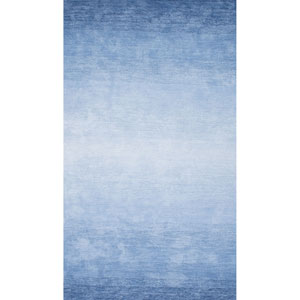 Ombre Bernetta Blue Runner: 2 Ft. 6 In. x 8 Ft.