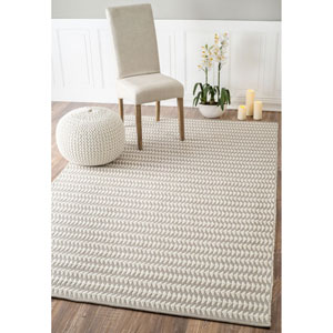 Outdoor Ivory Rectangular: 7 Ft. 6-Inch x 9 Ft. 6-Inch Area Rug