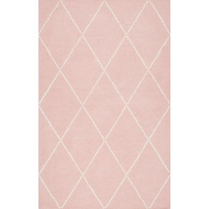 Elvia Baby Pink Rectangular: 5 Ft. x 8 Ft.