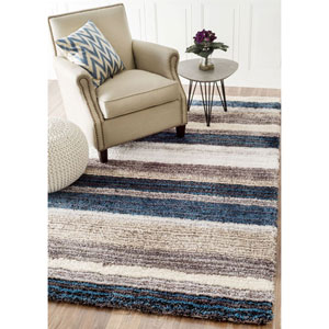 Blue Multicolor Runner: 2 Ft. 6 In. x 8 Ft.