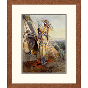 Sun Worship In Montana By Charles M. Russell, 24 X 20-Inch Wall Art
