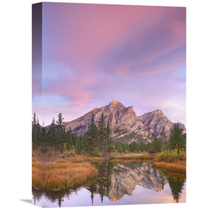 Mount Kidd And Trees Reflected In Pond, Alberta, Canada By Tim Fitzharris, 16 X 12-Inch Wall Art