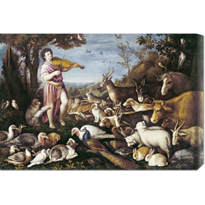 Orpheus Charming The Animals by Leandro Da Ponte: 30 x 20.7 Canvas Giclees, Wall Art