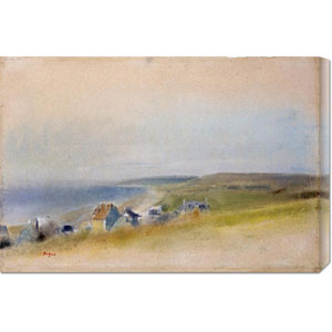 Houses on The Cliff Edge at Villers-Sur-Mer by Edgar Degas: 30 x 20.25 Canvas Giclees, Wall Art