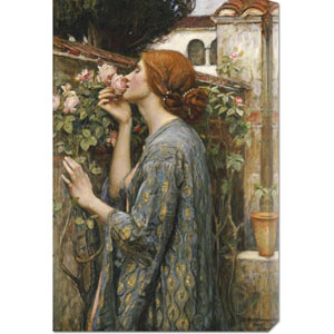 The Soul of The Rose by John William Waterhouse: 19.5 x 30 Canvas Giclees, Wall Art