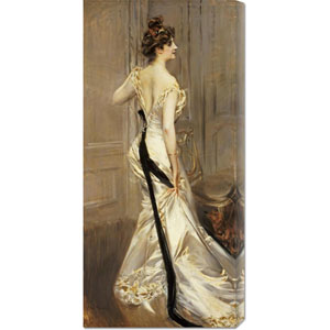 The Black Sash by Giovanni Boldini: 16.8 x 36 Canvas Giclees, Wall Art