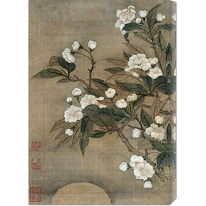 Pear Blossom and Moon by Yun Shouping: 18 x 30 Canvas Giclees, Wall Art