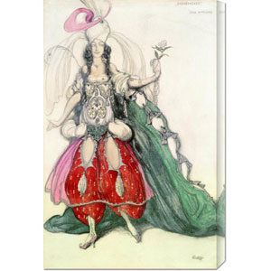Costume Design for Scheherazade by Leon Bakst: 19.4 x 30 Canvas Giclees, Wall Art