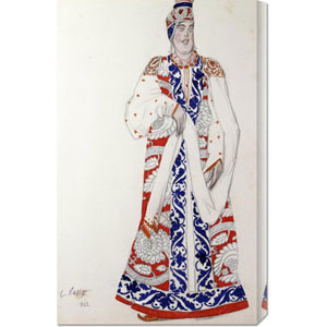 Costume Design For The Production Moskwa by Leon Bakst: 18.5 x 30 Canvas Giclees, Wall Art