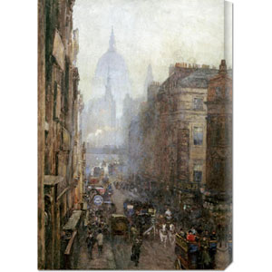 Fleet Street by Rose Maynard Bartom: 20.7 x 30 Canvas Giclees, Wall Art