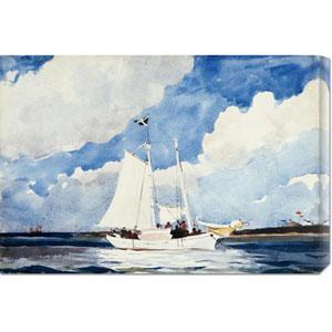 Fishing Schooner, Nassau by Winslow Homer: 30 x 20.55 Canvas Giclees, Wall Art