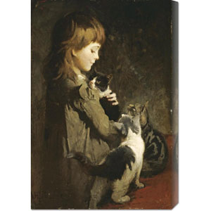 The Favorite Kitten by Abbott Handerson Thayer: 20.2 x 30 Canvas Giclees, Wall Art