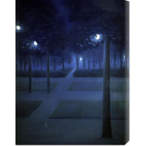 Night in the Park Royal, Brussels by William Degouve de Nuncques: 22.6 x 30 Canvas Giclees, Wall Art