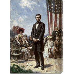 The Gettysburg Address by Jean Leon Gerome Ferris: 20.6 x 30 Canvas Giclees, Wall Art