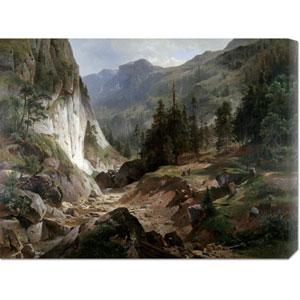 Mountain Landscape by Herman Fueschel: 30 x 22.92 Canvas Giclees, Wall Art