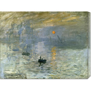 Impression: Sunrise by Claude Monet: 30 x 23.1 Canvas Giclees, Wall Art