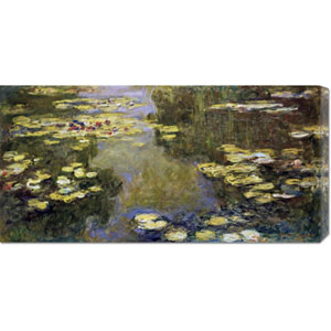 The Basin of Water Lilies - Le Bassin aux Nymphaeas by Claude Monet: 36 x 17.67 Canvas Giclees, Wall Art