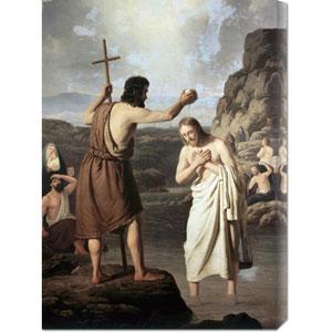 Baptism of Jesus by Johan Peter Raadsig: 21.4 x 30 Canvas Giclees, Wall Art