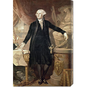 George Washington by Jose Perovani: 92 x 30 Canvas Giclees, Wall Art