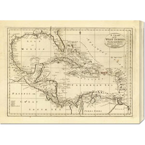 Chart of the West Indies, 1811 by Mathew Carey: 30 x 22.17 Canvas Giclees, Wall Art