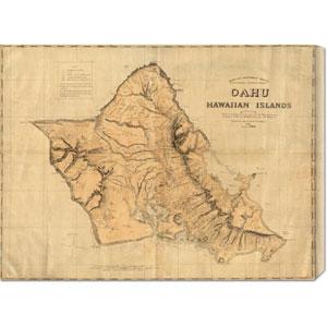 Oahu, Hawaiian Islands, 1881: 30 x 22.47 Canvas Giclees, Wall Art