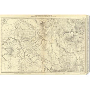 Western Colorado and Part of Utah, 1881 by F.V. Hayden: 30 x 20.85 Canvas Giclees, Wall Art