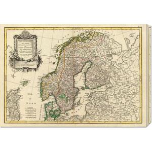 Suede, Danemarck et Norwege, 1762 by Jean Janvier: 30 x 21.06 Canvas Giclees, Wall Art