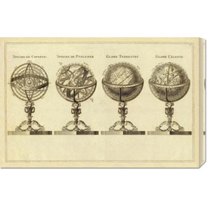 Spheres et Globes, 1791 by Jean Lattre: 30 x 19.65 Canvas Giclees, Wall Art