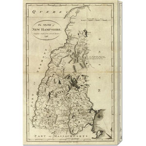 State of New Hampshire, 1796 by John Reid: 19.5 x 30 Canvas Giclees, Wall Art