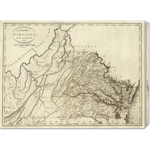 State of Virginia, 1796 by John Reid: 30 x 22.47 Canvas Giclees, Wall Art