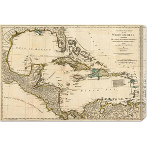 A Complete Map of the West Indies, 1776 by Robert Sayer: 30 x 20.4 Canvas Giclees, Wall Art