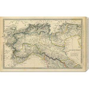 Ancient Italy I, 1832: 30 x 19.29 Canvas Giclees, Wall Art